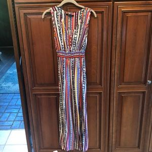 Worn Once Multcolor Sleeveless Maxi w/ Slits